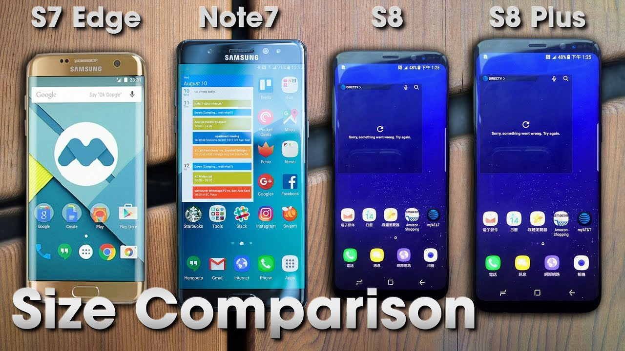 Comparatie Samsung Galaxy S7, S8, Note 7 si S8 Plus