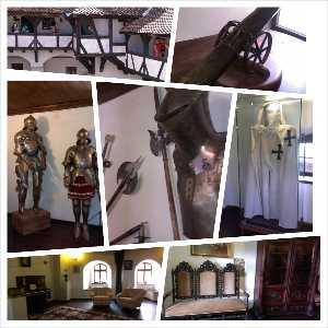 Armuri, mantia unu cruciat si imagini din Castelul Bran