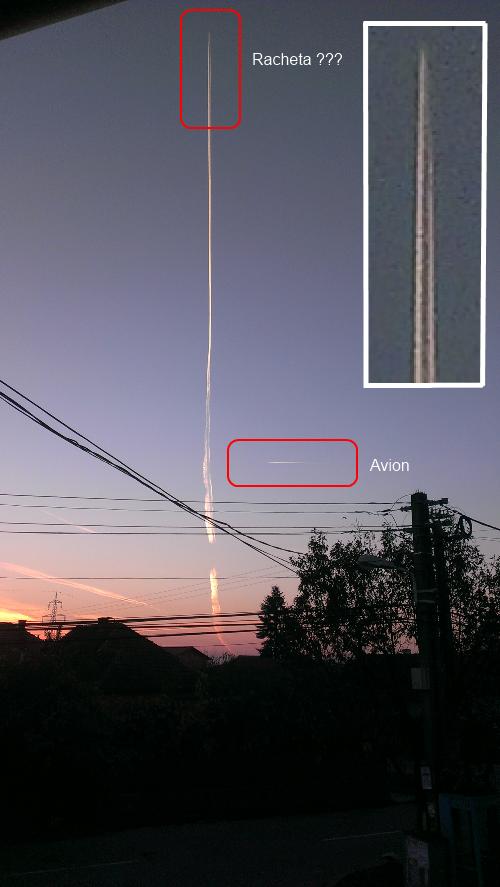 Imagine full size - lansare racheta la Timisoara