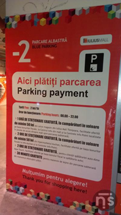 Lista Preturilor la parcarea cu plata