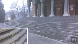 Catedrala Timișoara - scările terminate