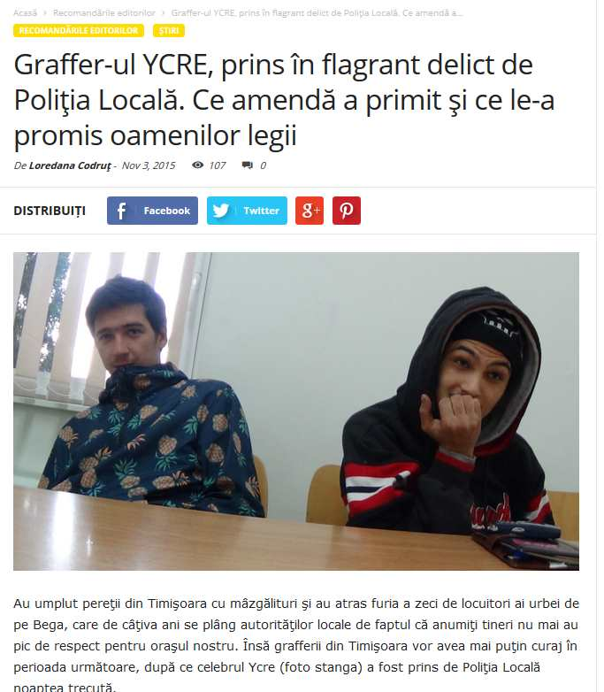 ycre a fost prins in Timisoara