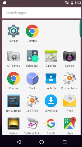 Android 7 - app drawer