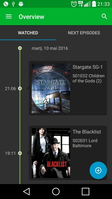 TV Series Collector timeline